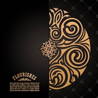Mandala projekt kwiatowy tło dla karty z pozdrowieniami