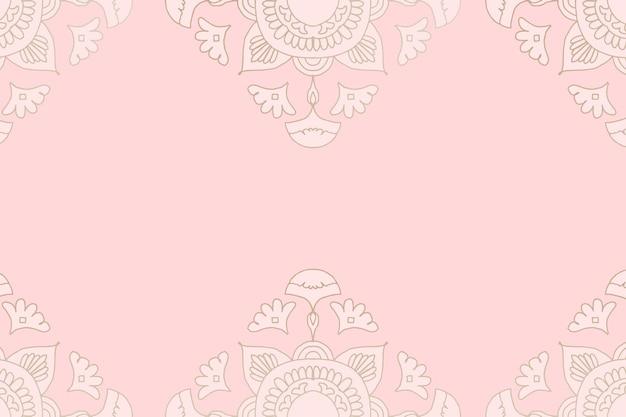 Mandala różowe tło