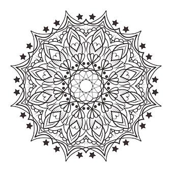 Mandala tle gwiazd projektowanie
