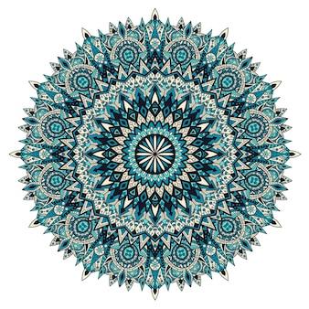 Mandala vintage design do druku. ornament plemienny.