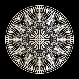 Mandala w czerni i bieli