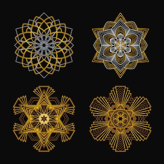 Mandala w stylu art deco
