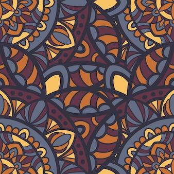 Mandala wektor bez szwu wzór do druku. ornament plemienny.
