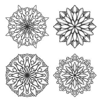 Mandala wektor logo ikona ilustracja