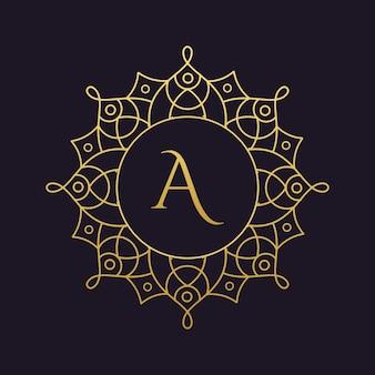 Mandala-wektor logo / ikona ilustracja