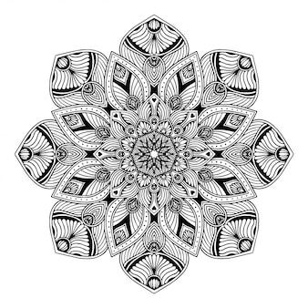 Mandalas kolorowanka, orientalna terapia, joga logo wektorowe.