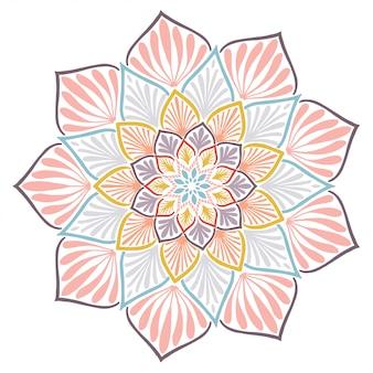 Mandale kolorowanka, terapia orientalna, loga joga wektor.