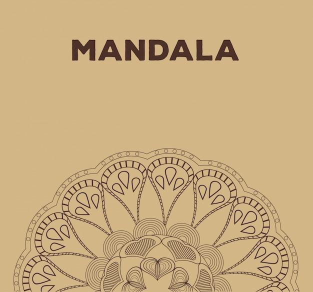 Mandali relaks klasycznego plakat buddyzmu