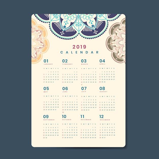 Mandat makieta kalendarza