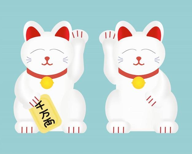 Maneki-neko lub szczęśliwy kot.