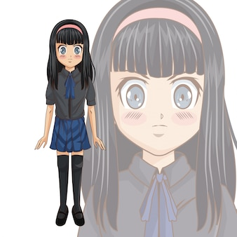 Manga cartoon girl