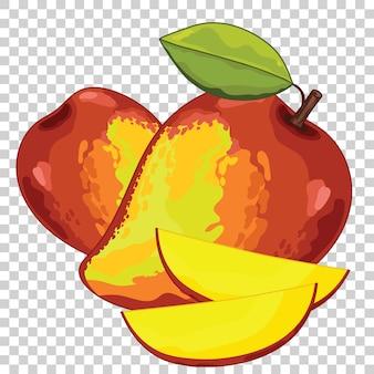 Mango na przezroczystym tle