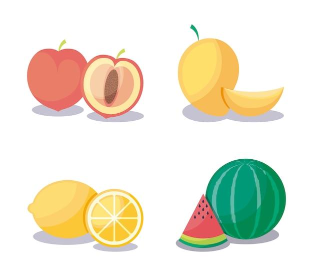 Mango z ustalonymi owocami zdrowymi