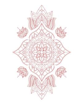 Manipur root chakra mandala do projektowania. ilustracja