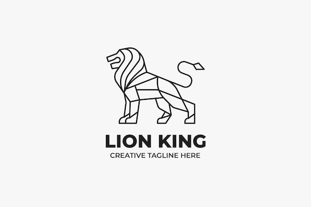 Manly strong lion sport monoline logo