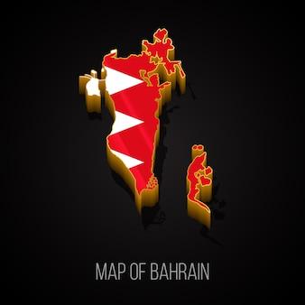 Mapa 3d bahrajnu