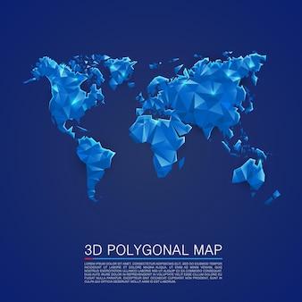 Mapa 3d okładki wielokąta. ilustracja wektorowa