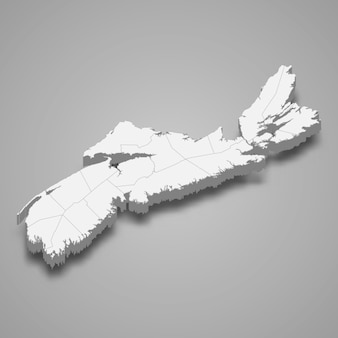 Mapa 3d prowincji kanady