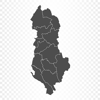 Mapa albanii na przezroczystym tle