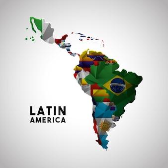 Mapa ameryki łacińskiej