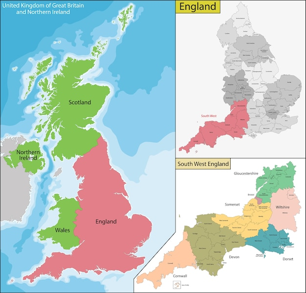 Mapa anglii