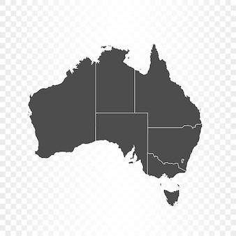 Mapa australii i flaga na białym tle