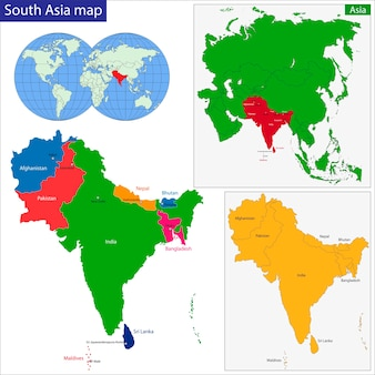 Mapa azji południowej
