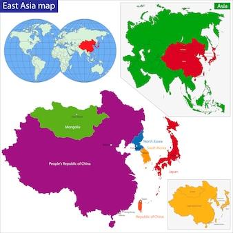 Mapa azji wschodniej