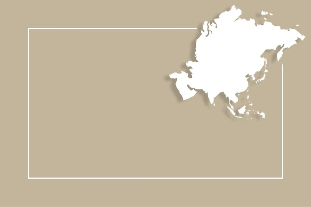 Mapa azji z szablonem tła wektorowego