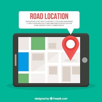 Mapa drogowa ze wskaźnikami w stylu płaskiej