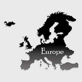 Mapa europy sylwetka