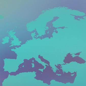 Mapa europy w kropki.