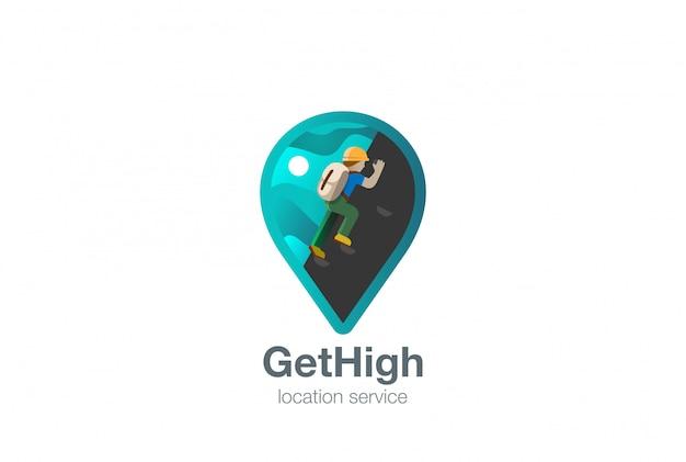 Mapa geo locator logo wektor ikona