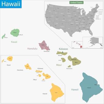Mapa hawajów