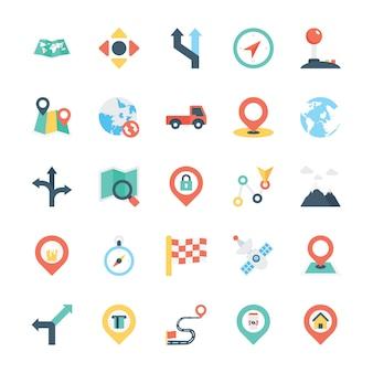 Mapa i nawigacja kolorowa ikona