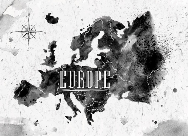 Mapa ink europe