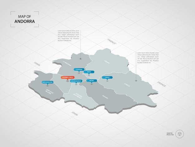 Mapa izometryczna andory.