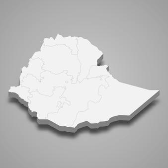Mapa kraju z granicami regionów
