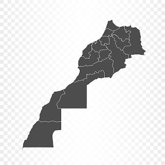 Mapa maroka na przezroczystym tle