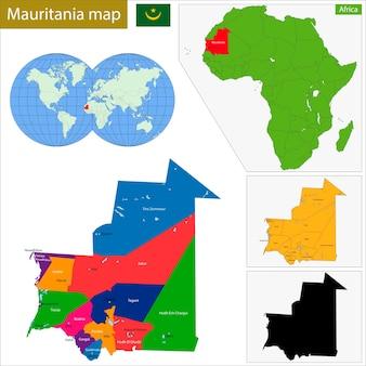 Mapa mauretanii
