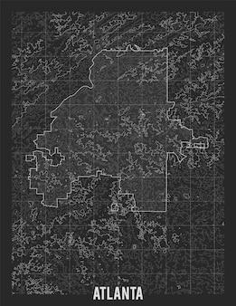 Mapa miasta atlanta.