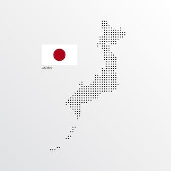 Mapa projekt z flaga i lekki tło wektor