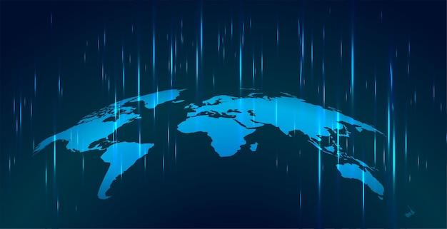 Mapa robocza z technologią w tle