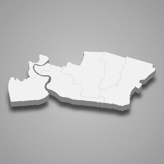 Mapa samut prakan to prowincja tajlandii