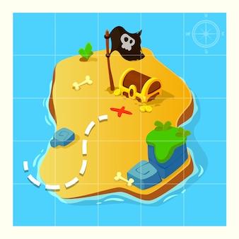Mapa skarbów do gry.