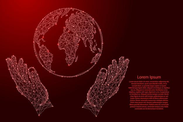 Mapa stanów zjednoczonych, usa z czerwonego wzoru składającego się z puzzli i świecących gwiazd kosmicznych.