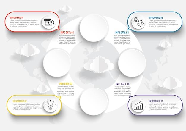Mapa świata ilustracja infografiki geometrycznej koncepcji