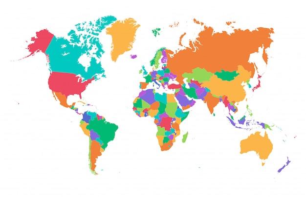 Mapa świata kolorowy