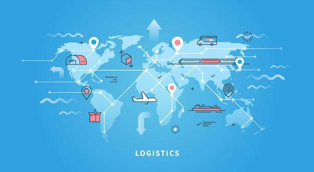 Mapa świata logistyki