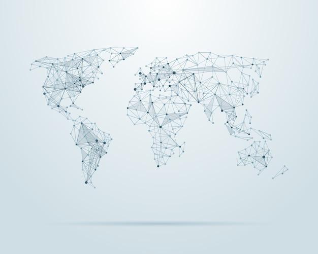 Mapa świata low poly